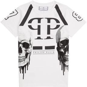 Philipp Plein Dripping Skull T-Shirt