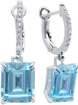 Crislu In Vogue Platinum Plated Cz Drop Earrings