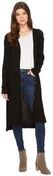 Michael Stars Jasper Poor Boy Rib Cardigan Women's Sweater