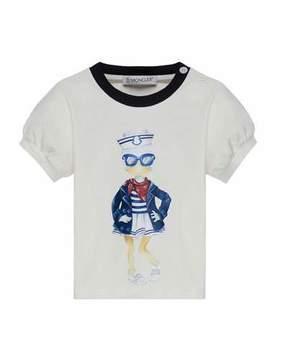 Moncler Maglia Short-Sleeve Sailor Duck T-Shirt, Size 12M-3Y