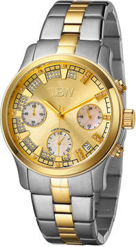 JBW Alessandra Gold-tone Diamond Chronograph Dial Two-tone Steel Bracelet Ladies Watch