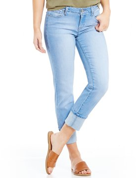 Celebrity Pink Mega Cuff Ankle Straight-Leg Jeans
