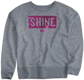 Levi's Girls 7-16 Sequin Pullover Sweatshirt
