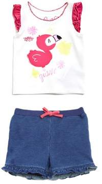 GUESS Girl's Cap Sleeve Tee and Shorts Set (0-24M)