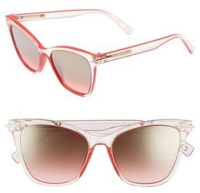 Marc Jacobs Women's 54Mm Gradient Lens Sunglasses - Crystal Clear Black