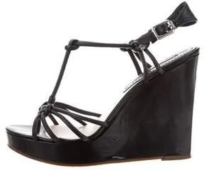 Celine Leather Multistrap Wedges