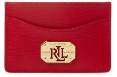 Lauren Ralph Lauren Newbury LRL Saffiano Leather Card Case
