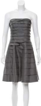 Carmen Marc Valvo Silk Tiered Dress