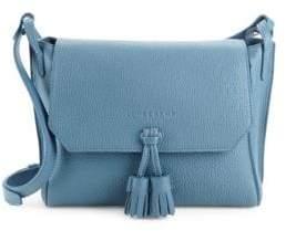 Longchamp Logo Leather Crossbody Bag