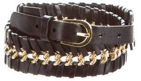 Oscar de la Renta Embellished Leather Belt