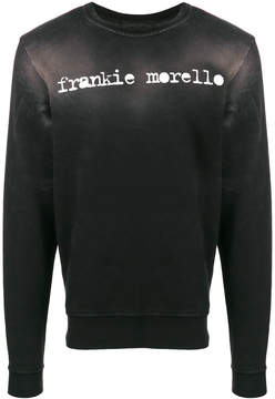 Frankie Morello distressed logo sweatshirt