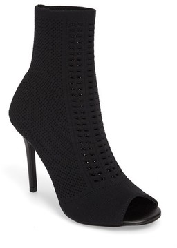 Charles by Charles David Women's Rebellious Knit Peep Toe Bootie