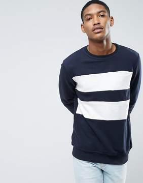 Pull&Bear Sweatshirt With Color Block Stripe