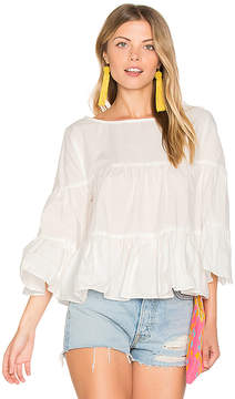 Central Park West Palm Beach Ruffle Top