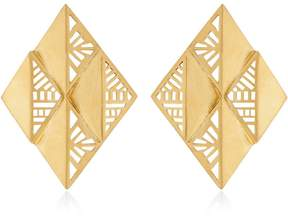 Azza Fahmy The Lotus Earrings