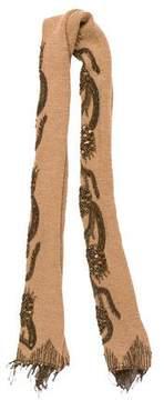 Dries Van Noten Embellished Wool Scarf