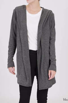 Double Zero Hooded Open Cardigan