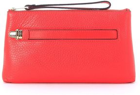 Michael Kors Charlton Red Coral Leather Clutch - ROSSO - STYLE