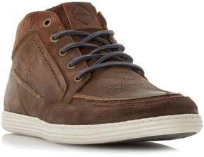 Dune London SIRIUS - BROWN Apron Stitch Detail High Top Sneaker