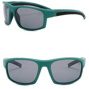 Timberland Polarized 63mm Wrap Sunglasses