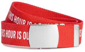 H&M Fabric Belt with Text Motif