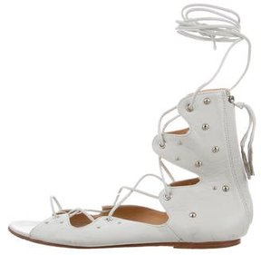 IRO Leather Lace-Up Sandals