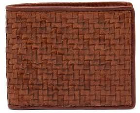 Tommy Bahama Basket Woven Leather Billfold Wallet
