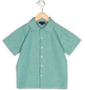 Oscar de la Renta Boys' Plaid Button-Up Shirt