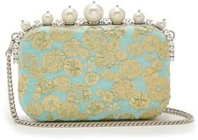 Miu Miu Crystal and pearl-embellished brocade clutch