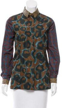 Cacharel Printed Button-Up Top