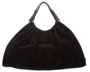 Gucci Leather-Trimmed Suede Hobo