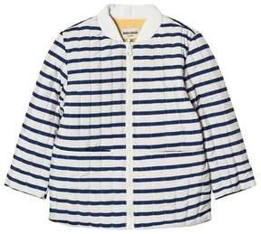 Bobo Choses Navy Striped Reversible Padded Jacket