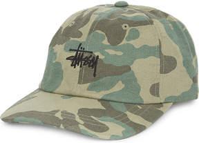 Stussy Script jacquard-camouflage cotton strapback cap