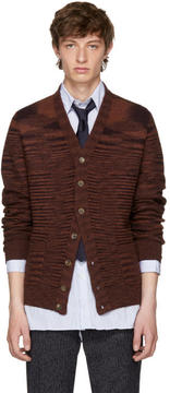 Missoni Red Wool Cardigan