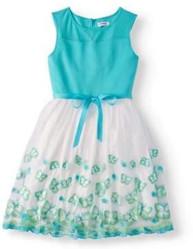 Speechless Lots Of Love By Girls' Plus Butterfly Organza Dress