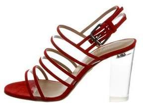 Ritch Erani NYFC PVC-Trimmed Slingback Sandals w/ Tags