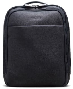 Kenneth Cole New York Reaction Kenneth Cole The Modern Wolf Back Leather Dowel Rod Portfolio - Men's - Black