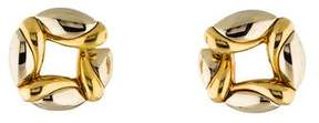 Bvlgari 18K Two-Tone Round Clip-On Earrings