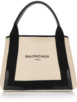 Balenciaga - Cabas Leather-trimmed Canvas Tote - Beige