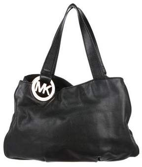 MICHAEL Michael Kors Leather Logo Shoulder Bag