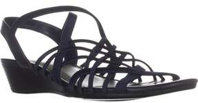 Impo Rise Low-heel Wedge Sandals, Navy.