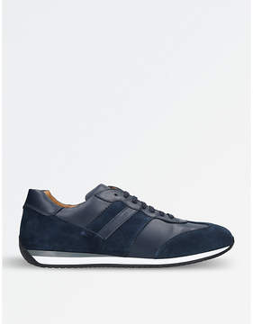 Stemar Runner suede and leather trainers