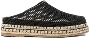 Flamingos Mesh Gumbo Espadrilles in Black.