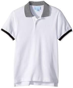 Lanvin Kids Checkered Collar Polo Boy's Clothing