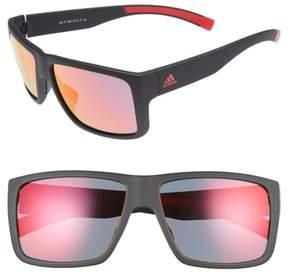 Women's Adidas Matic 59Mm Sunglasses - Black Matte/ Red Mirror