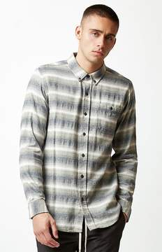 Ezekiel Breeze Striped Flannel Long Sleeve Button Up Shirt