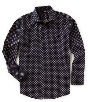 Murano Slim-Fit Stars Print Long-Sleeve Woven Shirt