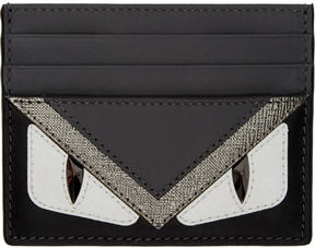 Fendi Black and Grey Bag Bugs Card Holder