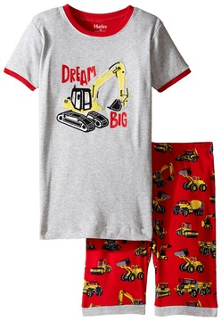 Hatley Heavy Duty Machines Short Pajama Set (Toddler/Little Kids/Big Kids)