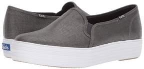 Keds Triple Decker Metallic Linen Women's Slip on Shoes